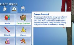 [Updated] Career-Oriented Trait The sims are talented in every way when it comes to things involving careers. These sims take their career easily and become inspired very often. Sims 4 Game Mods, Sims Mods, Sims 4 Family, Sims 4 Traits, The Sims 4 Packs, Sims 4 Gameplay, Sims House Design, Sims 4 Characters, Sims 4 Toddler