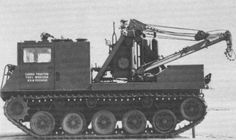 T5E1 - prototype of recovery vehicle based on M24 Chaffee's chassis