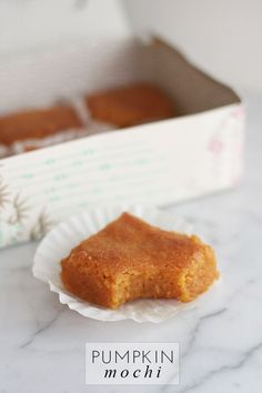 pumpkin mochi http://frockfiles.com/2013/09/18/how-to-pumpkin-mochi/
