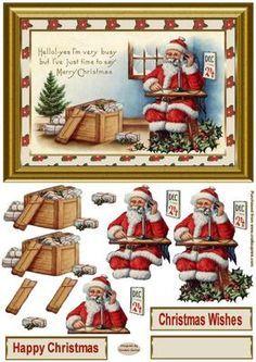 free christmas decoupage card making - Google Search