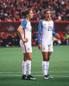 Carli Lloyd, Christen Press || #USWNT - BC Place (Nov 9, 2017)