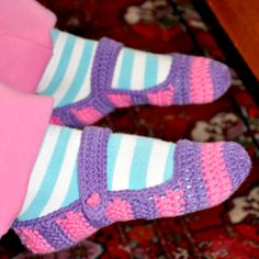 Chrochet slippers - with tutorial