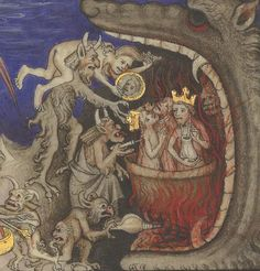 Bibliothèque nationale de France, Français 22913, detail of f.370r. Augustine, De Civitate Dei in the French translation of Raoul de Presles (Books XI-XXII). 1370-1380