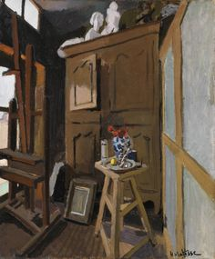 This painting shows a corner of Matisse's apartment at 19 Quai St. Michel, Paris, where he lived from 1899 to 1907.
