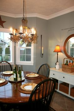 Dining Room ideas for Abby, because the dining room she has now is abominable. But, to her credit, it was like that when she moved in.