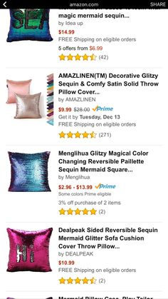 Throw Pillow Covers, Throw Pillows, Mermaid Sequin, How To Get, Comfy, Decor, Cushions, Decoration, Decorating