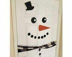 Door decoration  sc 1 st  Pinterest & Snowman Door Decor | Snowman door Snowman and Doors