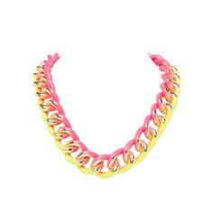 I love the BCBGeneration Graffiti Chain Necklace from LittleBlackBag