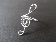 Treble Clef Ring. Easy to make instructions for almost no cost.