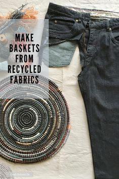 Learn to Make Baskets from Recycled Fabrics with this online course from Craft School Oz Recycled Fabric, Recycled Crafts, Basement Ceilings, Basement Bars, Basement Ideas, Craft Projects, Sewing Projects, Fabric Origami, Textiles