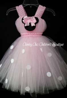 Minnie Mouse Inspired Tutu Dress Gown por CheekyChicChildrens