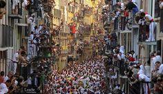 La próxima semana estaré en Pamplona (De Pedro Armestre en el primer encierro de las fiestas de San Fermín de 2013)