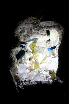 Reálné prostředí naleziště krystalů