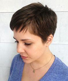 Women's Very Short Boyish Haircut # short hair styles pixie fine 60 Cute Short Pixie Haircuts – Femininity and Practicality Long Pixie Hairstyles, Oval Face Hairstyles, Short Hairstyles For Women, Shaved Hairstyles, Casual Hairstyles, Men's Hairstyles, Medium Hairstyles, Celebrity Hairstyles, Hairdos