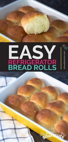 Dinner Rolls Easy, Sweet Dinner Rolls, Dinner Rolls Recipe, Best Bread Recipe, Bread Recipes, Baking Recipes, Dog Food Recipes, Cake Recipes, Muffin Recipes