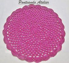Ponteando: Souplat de crochê com gráfico - modelo 2