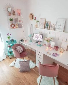 4 dicas para trabalhar em casa com mais qualidade Home Office Space, Home Office Design, Home Office Decor, Home Decor, Girl Bedroom Designs, Room Ideas Bedroom, Bedroom Decor, Bedroom Corner, Corner Desk