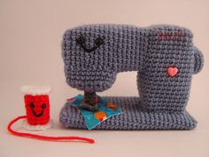 Amigurumi Sewing Machine in Blue ^_^ by Yummy Pancake, via Flickr