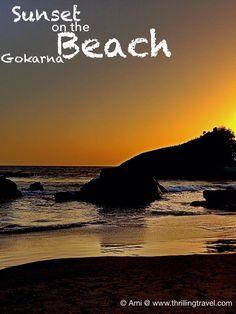 Beautiful sunset on Kudle beach in Gokarna. Discover 10 things to do in Gokarna on this link http://www.thrillingtravel.in/2015/08/10-things-to-do-in-gokarna.html. #beaches #sunset #travel #incredibleindia #yoga #gokarna