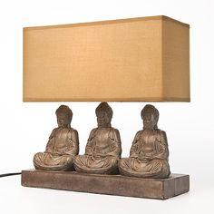 Tischleuchte TL Sitting Buddha Rectangular - Metall/Stoff - 1-flammig 45 Euro