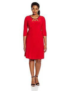 Star Vixen Plus Size Red Bodycon Dress - http://www.womansindex.com/star-vixen-womens-plus-size-elbow-sleeve-bodycon-triple-keyhole-cutout-short-dress-red-1x/ #StarVixen #LoveYourCurves