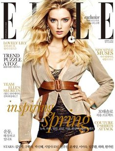 Elle KOREA April 2013 Lily Donaldson by Hong Jang Hyun