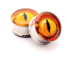 Tan Stic New Pair of Screw on Picture Plugs gauges Life//Death
