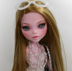 "Gigi ** 11"" 12"" 1/6 OOAK custom Monster high Draculaura Repaint by Yu"