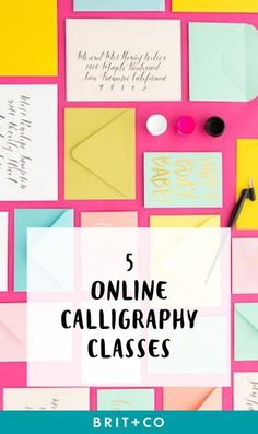Online calligraphy classes that will turn your scribbles into works of art! I'll do anything to improve my handwriting through lettering practice for my bullet journal! (online course affiliate)