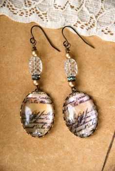 French romanticvintage styleshabby chic earrings by tiedupmemories, $18.00