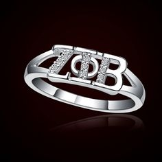 Zeta Phi Beta Sorority Rings $39.95 #Zeta #ZetaPhiBeta #Greek #Sorority #Jewelry