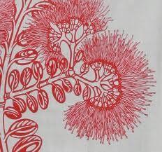 Pohutukawa tea towel by melinamartin on Etsy Native Drawings, New Zealand Art, Nz Art, Maori Art, Kiwiana, Wooden Letters, Shades Of Red, Crafts To Do, Textile Art