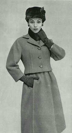 1956 Christian Dior  I wish clothes were still so chic and classy