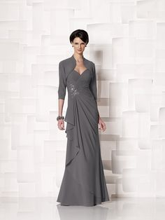 Sheath/Column Sleeveless Straps Chiffon Floor-Length Mother of the Bride Dresses