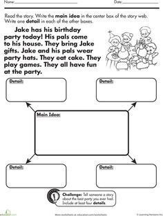 Worksheet Main Idea And Supporting Details Worksheets comprehension language and worksheets on pinterest main idea supporting details 2nd grade