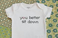 You Better Sit Down New Daddy Gift, Pregnancy Reveal to Grandparents, or Baby Announcement by sweetteasundries on Etsy