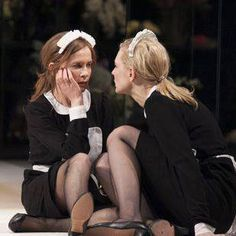 Isabelle Huppert and Cate Blanchett in Sydney Theatre Company's The Maids. Samuel Beckett, Sydney Theatre Company, August Strindberg, Hugo Weaving, Theatre Reviews, Isabelle Huppert, French Maid, French Style, Theatre Stage