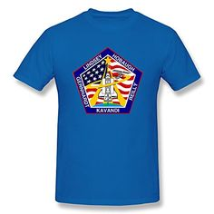 Jahei Custom NASA Short Sleeve Tshirt For Mens RoyalBlue Large