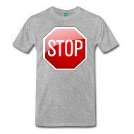 Ein Verkehrsschild Stopschild bzw. Stoppschild.