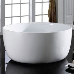 Found it at Wayfair - Vale x Freestanding Bathtub Best Bathtubs, Soaking Bathtubs, Simple Bathroom, Master Bathroom, Bathroom Tubs, Man Cave Diy, Bathtub Remodel, Water House, Freestanding Bathtub