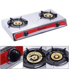 Safstar Portable Propane Gas Stove Stainless Steel Double Burner Kitchen Cooker Hob -- Check this awesome product by going to the link at the image.