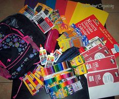 BACK TO SCHOOL SUPPLY SHOPPING LIST #DIY #supply #school