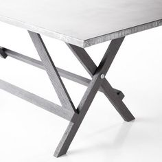 Zinc-Topped Trestle Table #zinc