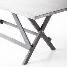 Zinc-Topped Trestle Table #zinc