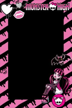 Monster high borders – My WordPress Website Monster High Room, Monster High House, Festa Monster High, Monster High Birthday, Monster High Party, Spa Birthday Parties, Slumber Parties, Birthday Ideas, Monster High Invitations
