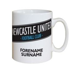 Personalised Newcastle United FC Vintage Mug #NewcastleUnited #FootballGifts £9.95