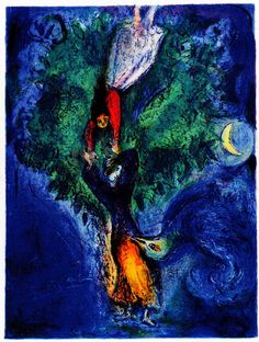 """So, She Climbed down the Tree"" (Four Tales from One Thousand and One Nights), Marc Chagall, 1948"