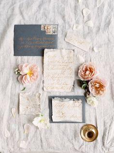 dark envelopes and watercolor edges