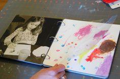 DIY kids art portfolio- I'm in love with this Preschool Classroom, Preschool Art, Body Preschool, Kindergarten, Infant Classroom, Classroom Ideas, Reggio Documentation, Family Day Care, Reggio Emilia