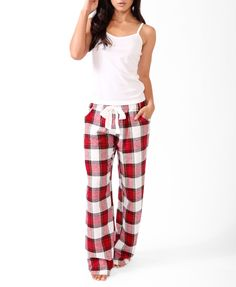 Lounge/Sleep: Drawstring plaid flannel pj pants are a classic for a reason.  They're very comfy and keep you warm.  I always pull out these pants when I'm sick or having a bad day, and want to be at my warmest and coziest.